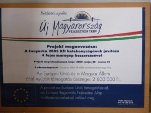 EU-s támogatás